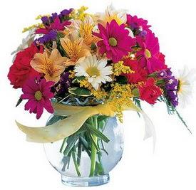 Kayseri çiçek online çiçek gönderme sipariş  cam yada mika içerisinde karisik mevsim çiçekleri