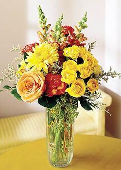 Kayseri çiçek çiçek servisi , çiçekçi adresleri  mika yada cam içerisinde karisik mevsim çiçekleri