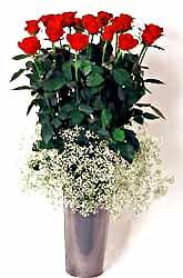 Kayseri çiçek anneler günü çiçek yolla  9 adet kirmizi gül cam yada mika vazoda