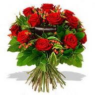 9 adet kirmizi gül ve kir çiçekleri  Kayseri çiçek online çiçek gönderme sipariş