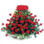 Kayseri çiçek çiçek yolla , çiçek gönder , çiçekçi   41 adet kirmizi gülden sepet tanzimi