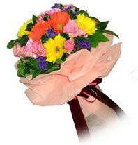 Kayseri çiçek internetten çiçek siparişi  Karisik mevsim çiçeklerinden demet