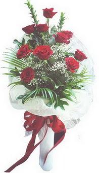 Kayseri çiçek çiçekçiler  10 adet kirmizi gülden buket tanzimi özel anlara