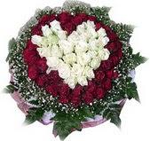 Kayseri çiçek online çiçekçi , çiçek siparişi  27 adet kirmizi ve beyaz gül sepet içinde