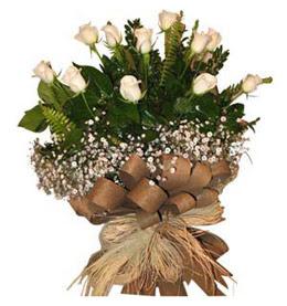 Kayseri çiçek hediye çiçek yolla  9 adet beyaz gül buketi