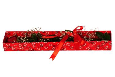 Kayseri çiçek hediye çiçek yolla  kutu içerisinde 1 adet kirmizi gül