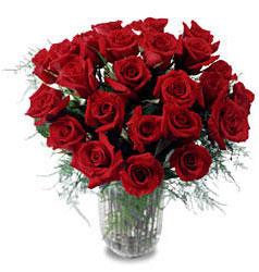 Kayseri çiçek çiçek satışı  11 adet kirmizi gül cam yada mika vazo içerisinde