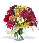 Kayseri çiçek çiçek siparişi sitesi  cam yada mika vazo içerisinde karisik kir çiçekleri
