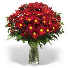 Kayseri özvatan çiçek çiçek , çiçekçi , çiçekçilik  Kir çiçekleri cam yada mika vazo içinde