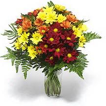 Kayseri çiçek çiçek siparişi vermek  Karisik çiçeklerden mevsim vazosu