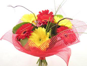 9 adet gerbera çiçeklerinden buket  Kayseri çiçek çiçekçi mağazası