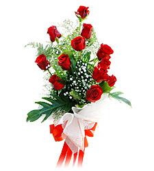 11 adet kirmizi güllerden görsel sölen buket  Kayseri çiçek uluslararası çiçek gönderme