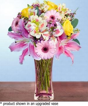 Anneme hediye karisik cam mevsim demeti  Kayseri çiçek cicekciler , cicek siparisi