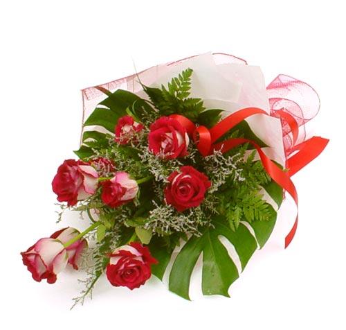 çiçek gönder 7 adet kirmizi gül buketi  Kayseri çiçek çiçek yolla , çiçek gönder , çiçekçi