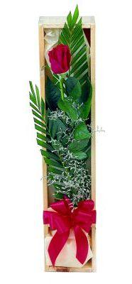 1 adet kutuda kirmizi gül  Kayseri çiçek çiçek satışı
