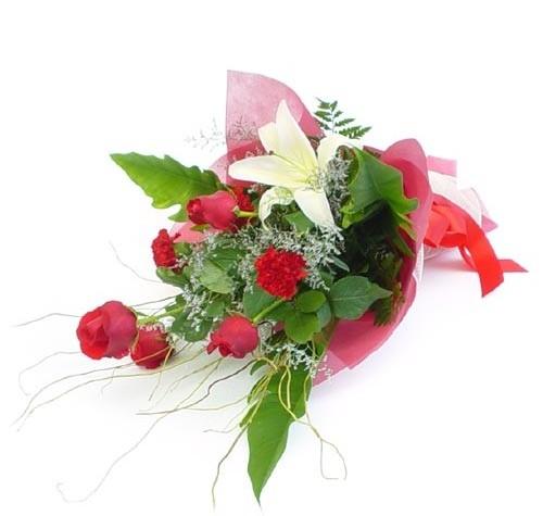 Mevsim çiçeklerinden karisik buket  Kayseri çiçek anneler günü çiçek yolla
