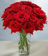Kayseri çiçek internetten çiçek siparişi  cam vazoda 11 kirmizi gül  Kayseri çiçek kaliteli taze ve ucuz çiçekler