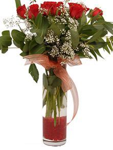 Kayseri çiçek çiçek online çiçek siparişi  11 adet kirmizi gül vazo çiçegi