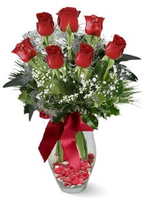 7 adet vazoda gül  Kayseri çiçek online çiçek gönderme sipariş  kirmizi gül