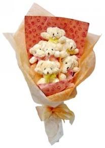 12 adet ayiciktan buket  Kayseri çiçek çiçek siparişi vermek
