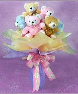 8 adet ayiciktan buket  Kayseri çiçek online çiçek gönderme sipariş