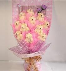 11 adet pelus ayicik buketi  Kayseri özvatan çiçek çiçek , çiçekçi , çiçekçilik