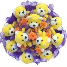 11 adet pelus ayicik buketi  Kayseri çiçek online çiçekçi , çiçek siparişi
