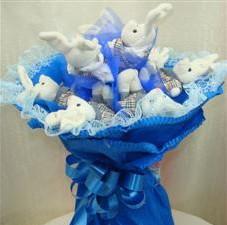 7 adet pelus ayicik buketi  Kayseri çiçek çiçek siparişi sitesi