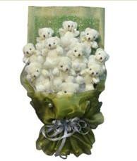 11 adet pelus ayicik buketi  Kayseri çiçek 14 şubat sevgililer günü çiçek