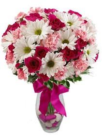 Kayseri çiçek çiçek siparişi vermek  Karisik mevsim kir çiçegi vazosu