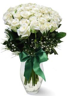 19 adet essiz kalitede beyaz gül  Kayseri çiçek cicek , cicekci