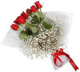 7 adet essiz kalitede kirmizi gül buketi  Kayseri çiçek kaliteli taze ve ucuz çiçekler