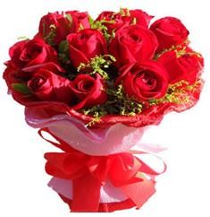 9 adet kirmizi güllerden kipkirmizi buket  Kayseri çiçek cicek , cicekci
