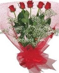 5 adet kirmizi gülden buket tanzimi  Kayseri özvatan çiçek çiçek , çiçekçi , çiçekçilik