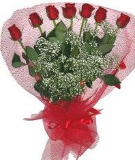 7 adet kipkirmizi gülden görsel buket  Kayseri çiçek online çiçekçi , çiçek siparişi