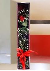 kutu içinde tek kirmizi gül  Kayseri çiçek güvenli kaliteli hızlı çiçek