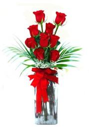Kayseri çiçek hediye çiçek yolla  9 adet mika yada cam vazoda gül tanzimi