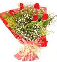 Kayseri çiçek çiçek mağazası , çiçekçi adresleri  5 adet kirmizi gül buketi demeti