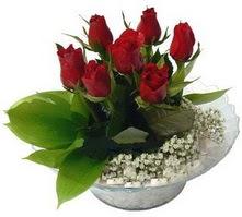 Kayseri çiçek online çiçek gönderme sipariş  cam yada mika içerisinde 5 adet kirmizi gül