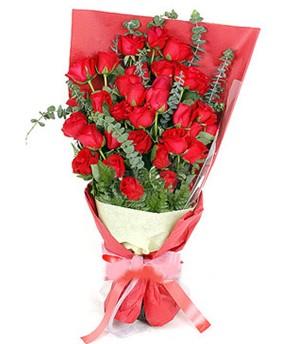 Kayseri çiçek ucuz çiçek gönder  37 adet kırmızı güllerden buket