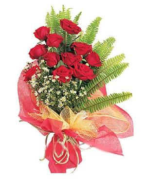 Kayseri akkışla çiçek çiçekçi telefonları  11 adet kırmızı güllerden buket modeli
