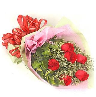 Kayseri çiçek çiçek siparişi sitesi  6 adet kırmızı gülden buket