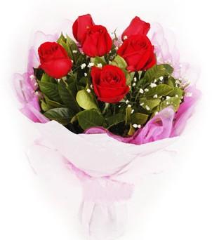 Kayseri çiçek kaliteli taze ve ucuz çiçekler  kırmızı 6 adet gülden buket