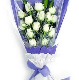 Kayseri çiçek internetten çiçek siparişi  11 adet beyaz gül buket modeli