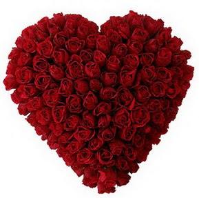 Kayseri çiçek internetten çiçek siparişi  muhteşem kırmızı güllerden kalp çiçeği