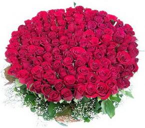 Kayseri melikgazi çiçek çiçek yolla  100 adet kırmızı gülden görsel buket