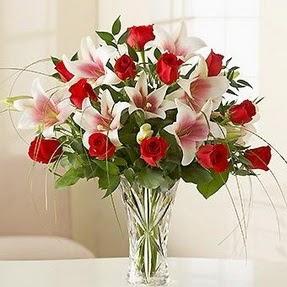 Kayseri çiçek online çiçekçi , çiçek siparişi  12 adet kırmızı gül 1 dal kazablanka çiçeği