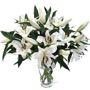 Kayseri çiçek hediye çiçek yolla  3 dal görsel casablanca vazo tanzimi