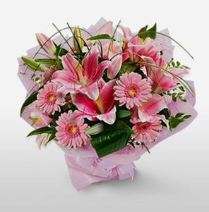1 dal kazablanka ve kır çiçek görsel buketi  Kayseri çiçek online çiçek gönderme sipariş