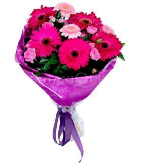Kayseri çiçek çiçek siparişi vermek  karışık gerbera çiçeği buketi